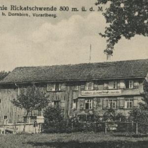 Gasthaus u. Kolonie Rickatschwende 800 m. ü. d. M. von Atelier, Heim