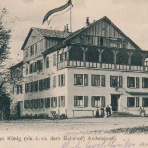 Hôtel u. Pension König (vis-à-vis dem Bahnhof) Andelsbuch von German, Barth.