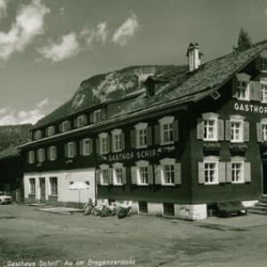 """""""Gasthaus Schiff"""" Au im Bregenzerwald / Aufnahme Rhomberg von Rhomberg, ..."""