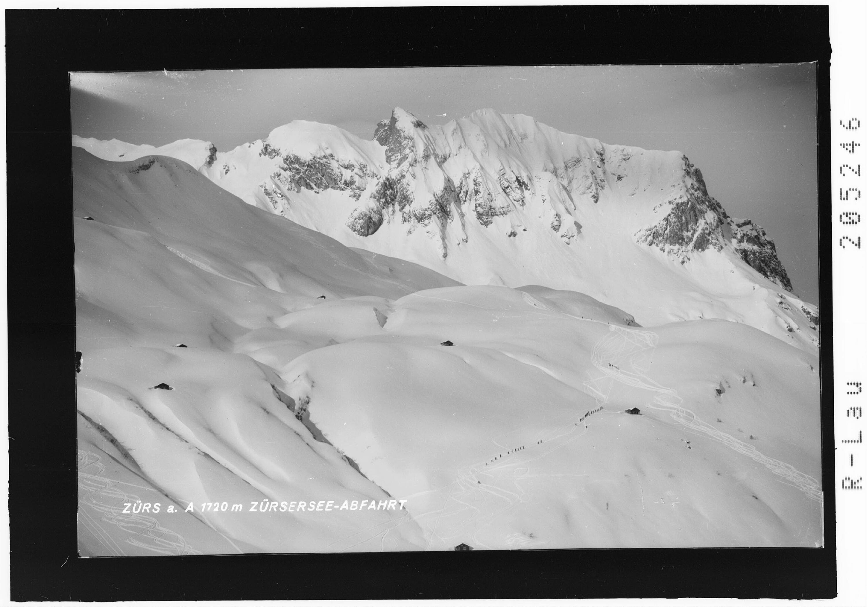 Zürs am Arlberg 1720 m / Zürsersee - Abfahrt von Risch-Lau