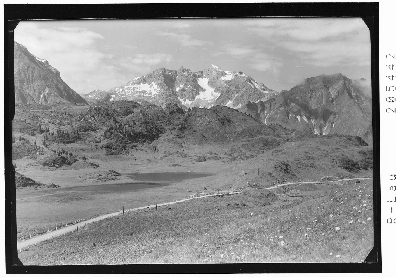 Kalbelesee gegen Braunarlspitze von Risch-Lau